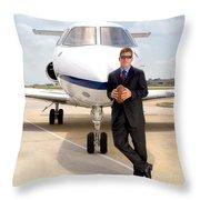 Dallas Cowboys Superbowl Quarterback Troy Aikman Throw Pillow