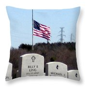 Dallas Fort Worth Memorial Cemetery Throw Pillow