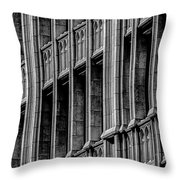 Dallas Grunge Throw Pillow
