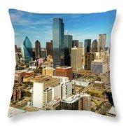 Dallas Skyline As Seen From Reunion Throw Pillow