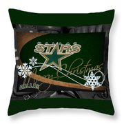 Dallas Stars Christmas Throw Pillow
