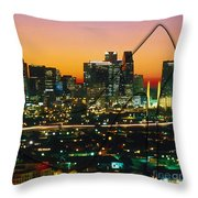 Dallas Texas Skyline In A High Heel Pump Throw Pillow