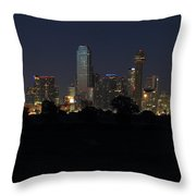 Dallas Skyline Twilight Throw Pillow