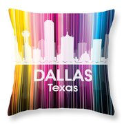 Dallas Tx 2 Throw Pillow