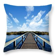 Dalmaney Bridge Throw Pillow