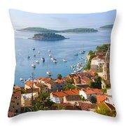 Dalmatian Coast Throw Pillow