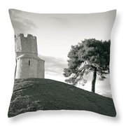 Dalmatian Stone Church On The Hill Throw Pillow by Brch Photography