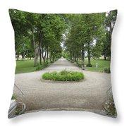 Daly Mansion Entrance - Montana Throw Pillow