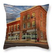 Daly Tea Building Throw Pillow