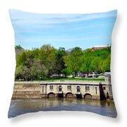 Dam House Throw Pillow