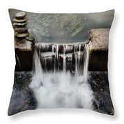 Dam Rocks Throw Pillow