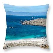 Damas Island Beach Throw Pillow