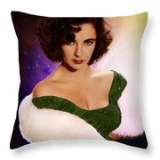 Dame Elizabeth Rosemond 'liz' Taylor - Featured In 'comfortable Art' Group Throw Pillow