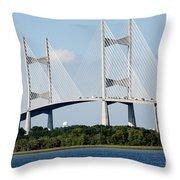 Dames Point Bridge Jacksonville Florida Throw Pillow