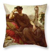 Damocles Throw Pillow by Thomas Couture