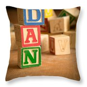 Dan - Alphabet Blocks Throw Pillow