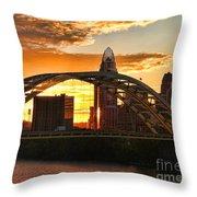 Dan C Beard Bridge 9917 Throw Pillow
