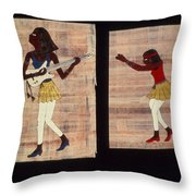 Dance And Flute Throw Pillow