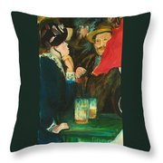Dance At Bougival Close Up Throw Pillow