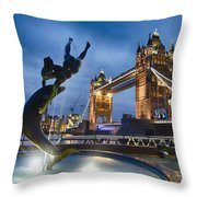 Dance At The Tower Throw Pillow