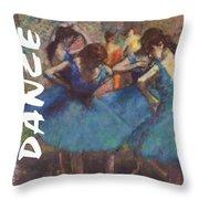 Dance By Degas Throw Pillow