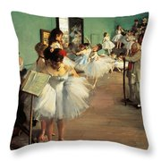 Dance Examination Throw Pillow by Edgar Degas