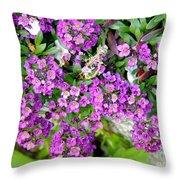 Dance Of Flowers Throw Pillow