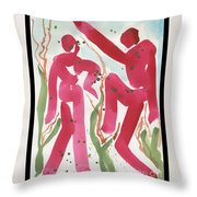 Dance Of Spring And The New Harvest Throw Pillow by Cathy Peterson