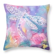 Dance Of The Dragonfly Throw Pillow