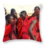Dance Of The Maasai Throw Pillow