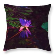 Dance Of The Night Lily Throw Pillow