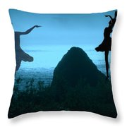Dance Of The Sea Throw Pillow