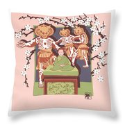 Dance Of The Skeleton Lords Throw Pillow