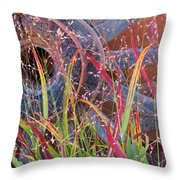 Dance Of The Wild Grass Throw Pillow