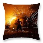Dance On Fire Throw Pillow
