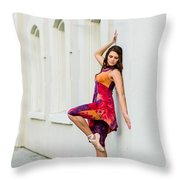 Dance On The Wall Throw Pillow
