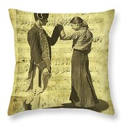 Dance The Minuet With Me Throw Pillow