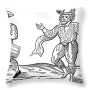 Dance The Morris, 1600 Throw Pillow