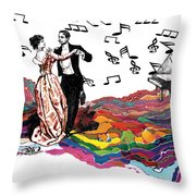 Dance Till The End Of Time Throw Pillow