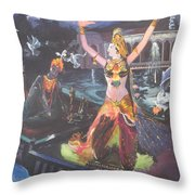 Dancer Laxmi Dancing On The Boat Throw Pillow