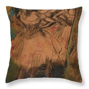 Dancer In The Wing Throw Pillow by Edgar Degas