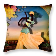 Dancer Of The Balcony Throw Pillow