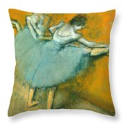 Dancers At The Barre Throw Pillow