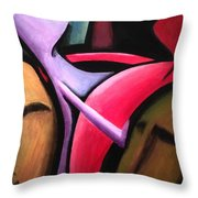 Dancers  Throw Pillow by D August