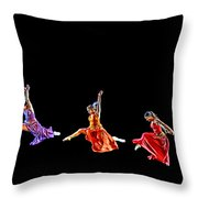 Dancers In Flight Throw Pillow