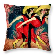 Dancers In Red Throw Pillow