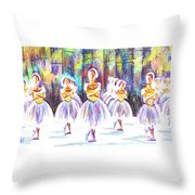 Dancers In The Forest II Throw Pillow
