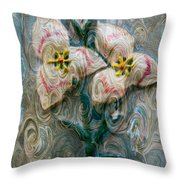 Dances With Flowers Throw Pillow