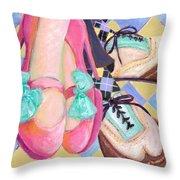 Dancin Shoes Throw Pillow