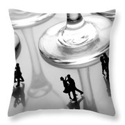 Dancing Among Glass Cups Throw Pillow by Paul Ge